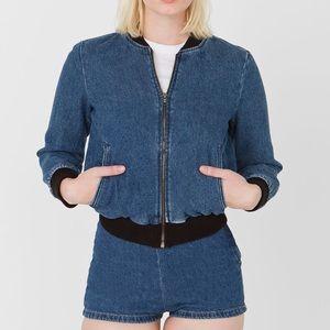 American Apparel Angeleno Denim Zip Up Jacket